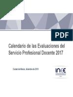 Calendario INEE evaluaciones docentes 2017