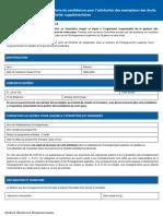 Formulaire Exemptions Annexe II MEES 07-2016