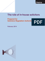 Role of in House Solicitors Research Report