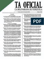 Sumario Gaceta Oficial 39.451