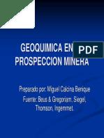 Geoquimica en La Prospeccion Minera