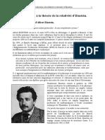 Introduction à La Théorie de La Relativité d'Einstein (Lycée, 24p)