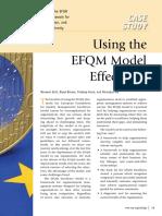 Using the Efqm Model