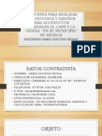 Pp. Estudios y Diseños Para Acueducto Veredal Municipio de Argelia.