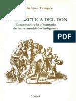 Temple Dominique - La Dialectica Del Don