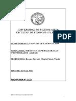 Programa Didáctica General Profesorados B 1 2016