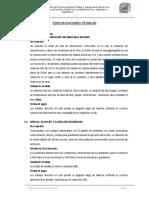 11. Especificaciones Tecnicas