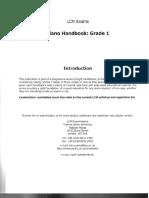 Piano Handbook 2006 Grade 1