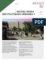 La marche, nouvel enjeu des politiques urbaines ?
