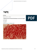 Lingering at the Threshold Between Word and Image _ Tate