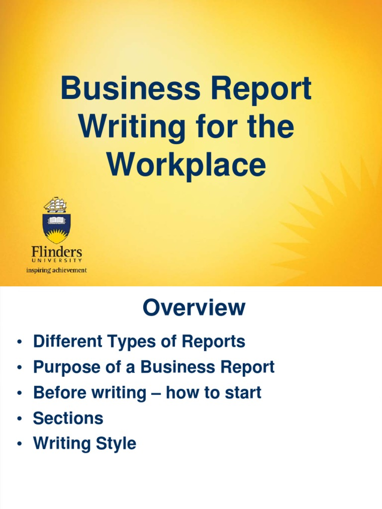 business report writing style