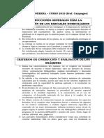 Instrucciones Para Resolución y Pautas de Corrección Parciales Domiciliarios