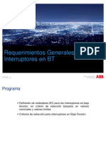 ES Requerimientos Generales Para Interruptores en BT