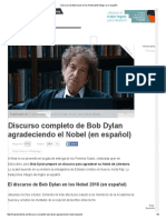 B. Dylan Nobel Speech