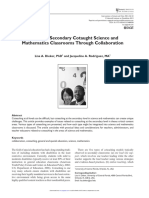 enhancing secondary cotaught science and mathematics classrooms through collaboration - 2013