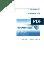 PostProcessor Reference Help En