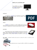 Parts of System Unit & Motherboard