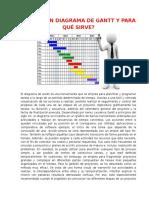 Diagramas de Gantt y Para Que Sirve