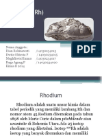 Rhodium (Rh)