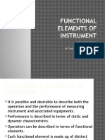 Functional Elements of Instrumentation