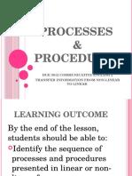 Processes & Procedures