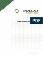 FRAMECAD F300i Operating Manual (FCF2) - Release 10102013