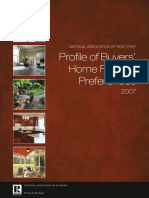 2007 Profile of Buyer Home Features