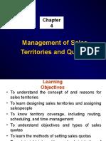 Management of Sales Territories