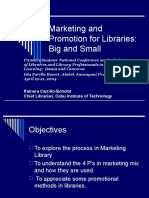 Marketing and Promotion for Libraries