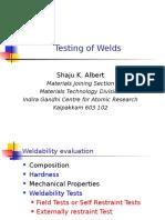 Testing of Welds