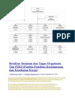Struktur Susunan dan Tugas Organisasi Tim P2K3.doc