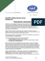 APG Document Nonconformity 2015