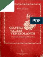 4 Valses Venezolanos - Antonio Lauro - Revised by Alirio Diaz