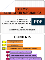 ECS 238 - Chapter 2a (Geometrical Properties and SFD & BMD)