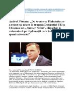 De Vreme Ce Plahotniuc N-A Reusit Sa Aduca in Fruntea Delegatiei UE La Chisinau Un Bursier Nobil