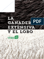 Folleto sobre ganadería extensiva y lobo.