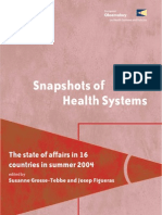 Snapshots of Health Systems