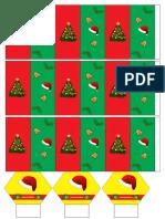 Kreativitas membuat kartu Natal 25 Desember 2016 PIA St.Theresia Kanak-kanak Yesus Kumetiran