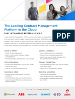 Easy & Intelligent Enterprise Contract Management Software Platform in the Cloud