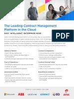 Easy & Intelligent Enterprise Contract Management Software Platform in the Cloud