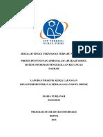 Laporan Praktek Kerja Lapangan Program Studi Sistem Informasi