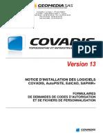 Installation de COVADIS v13