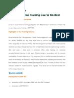 Sap Fico Online Training Course Content