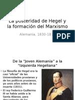 La Posteridad de Hegel y La Formación Del