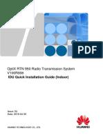 RTN 950 V100R008 IDU Quick Installation Guide(Indoor) 04