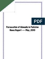 Monthly Newsreport - Ahmadiyya Persecution in Pakistan - May, 2010