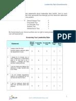 280783125 Autocratic Democratic Leadership Style Questionnaire