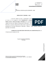 Despacho n 2120 Gab e Listas Homologacao SME