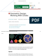 Geometeric Design Working With Circle