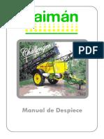 Caiman Challenger - Manual Despiece